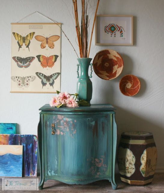 4142 best blue turquoise images on pinterest painted for Painting over lead paint on furniture