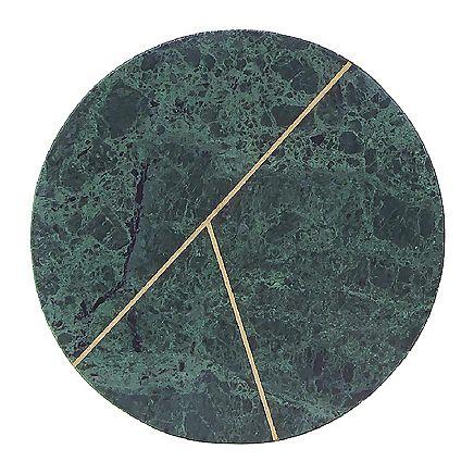 Plat rond deux lignes en marbre vert - House Doctor - Visuel 1