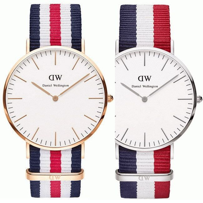 Hot 16 Color Top Brand DW Watch Luxury Style Daniel Wellington Watches Men women Nylon Strap Military Quartz Wristwatch  Reloj