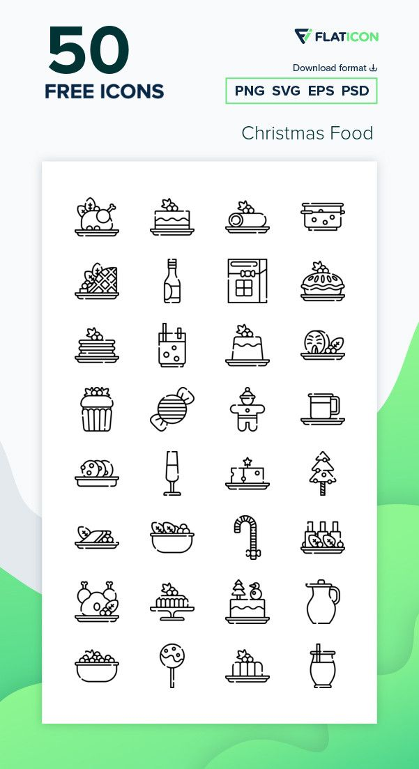 50 Free Vector Icons Of Christmas Food Designed By Freepik Food Icons Icon Restaurant Icon