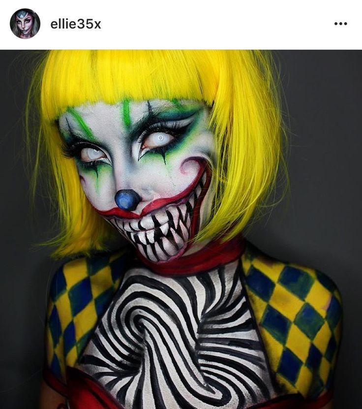 Creepy Clown makeup