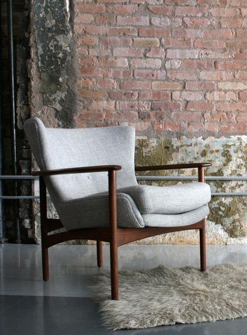 Ib Kofod-Larsen; Teak Lounge Chair, 1950s....