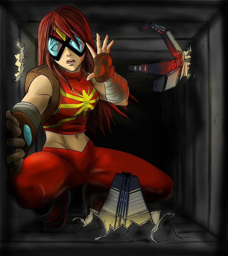 Spider-Woman (Mangaverse) by RQuinnArt