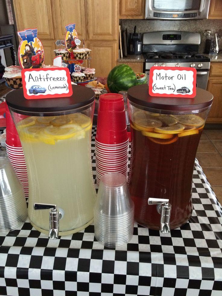 Antifreeze Motor Oil Disney 39 S Cars Drinks Party Ideas