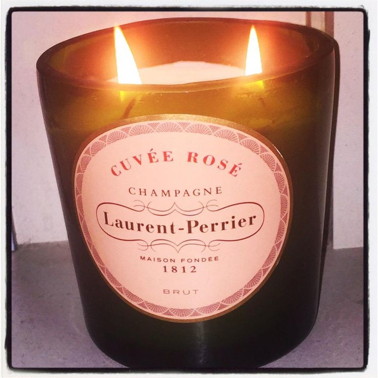 #ecocreatehour upcycle Laurent Perrier Rose champagne bottle pomegranate scented candle http://www.theupcyclejewellerycompany.co.uk/wp-content/uploads/2014/07/photo-21.jpg …