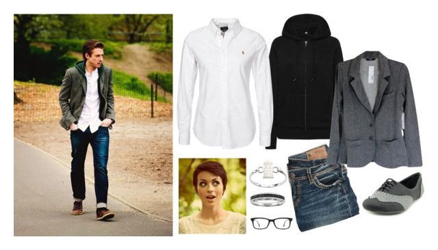 """""""Rory"""" by mountain-girl-lynn on Polyvore featuring Uniqlo, Polo Ralph Lauren, maurices, Not Rated, Tart, Ray-Ban, women's clothing, women, female and woman"""