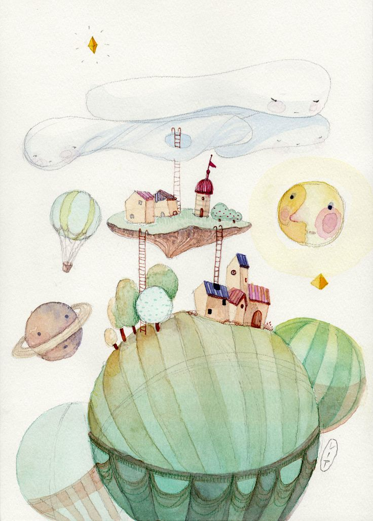 Dreamworld on Behance  #kids #illustration #balloons #whimsy
