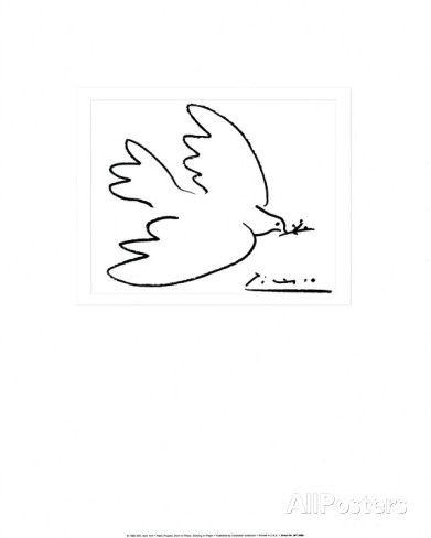 La colombe de la paix Affiches par Pablo Picasso sur AllPosters.fr