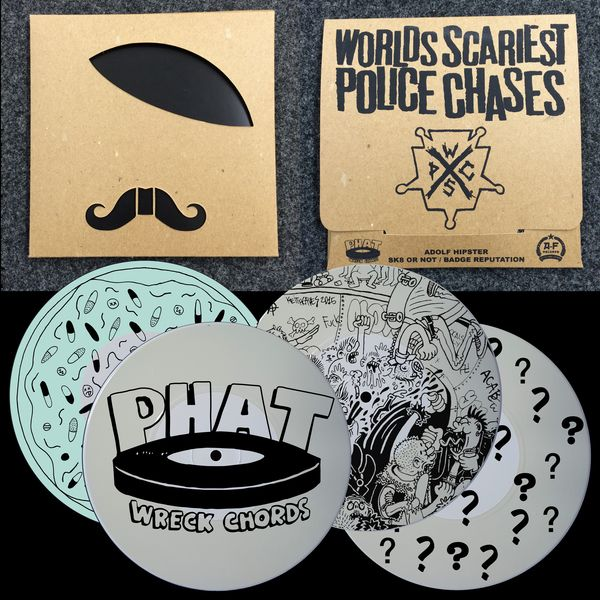 """A-F Records - Worlds Scariest Police Chases - """"Adolf Hipster"""" 7-inch"""