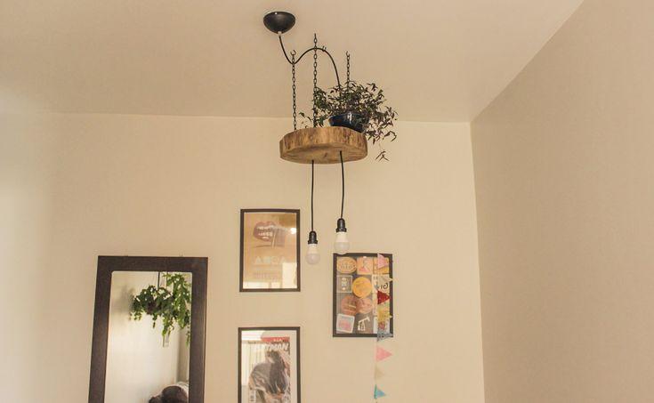 luminaria de tronco / wood light | Rail luminaire | Luminária rustica | Madeira