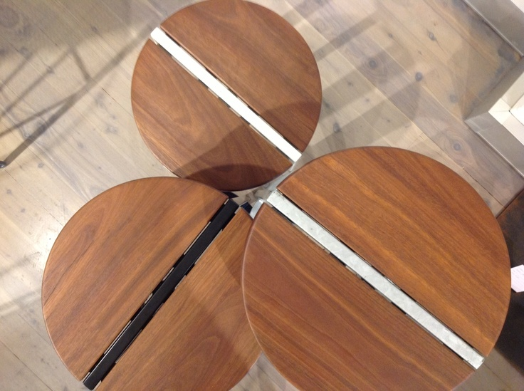 Admiring the Spotted Gum timber tops of our Stripe stools