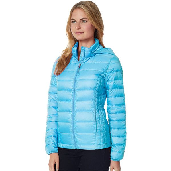 Women's 32 Degrees Hooded Puffer Jacket ($40) ❤ liked on Polyvore featuring outerwear, jackets, brt blue, puffer jacket, blue jackets, 32 degrees jacket, puffy jacket and lightweight jackets