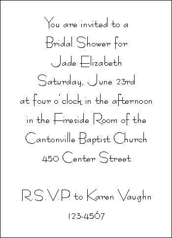 11 best Bridal Shower images on Pinterest Invitation ideas - bridal shower invitation samples