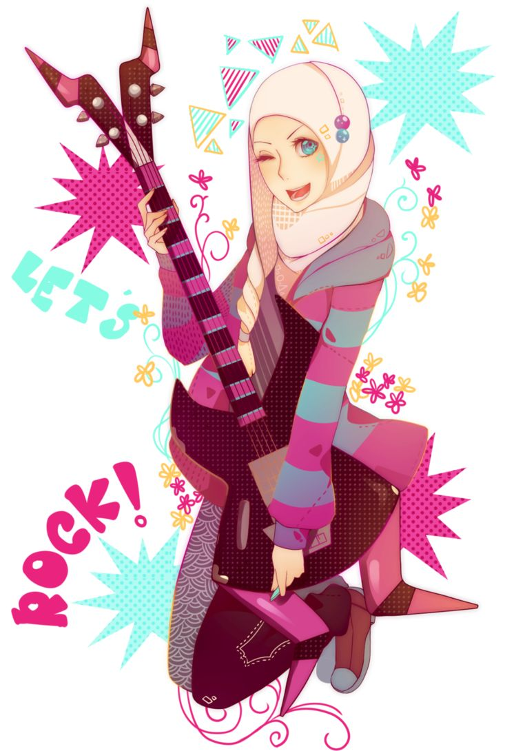 lets rock anime hijabi