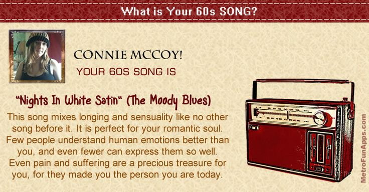 What is your 60s song? Let's find what is your 60s song?.