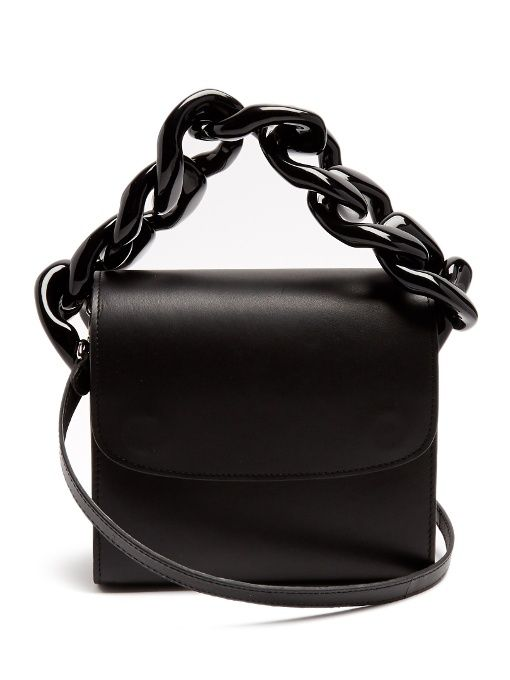 Marques'Almeida Oversized curb-chain leather shoulder bag
