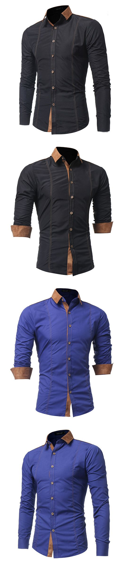 US$20.41 (47% OFF) Fall Outfit:Designer Dress Shirt for Men