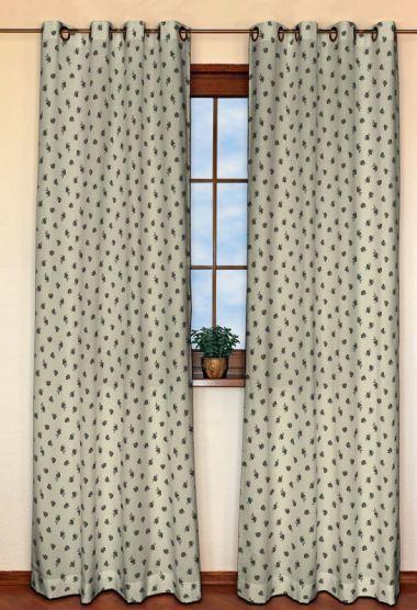 Zasłona na kółkach 1 szt. w kolekcji Toscana -20%, tkanina: 120-04