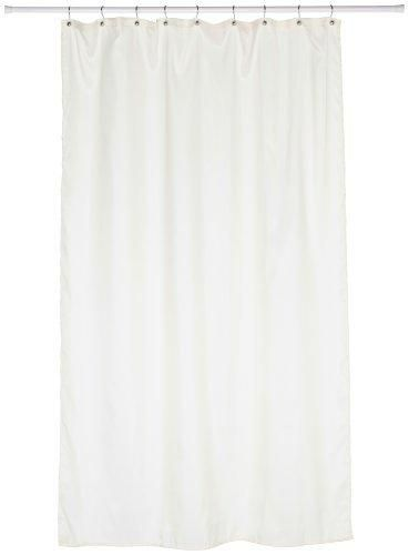 Carnation Home Fashions Fabric Stall Size Shower Curtain Liner Ivory