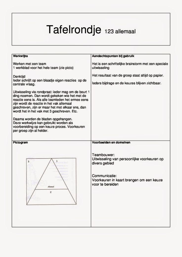 6 Kaarten met coöperatieve werkvormen om in de klas te gebruiken.