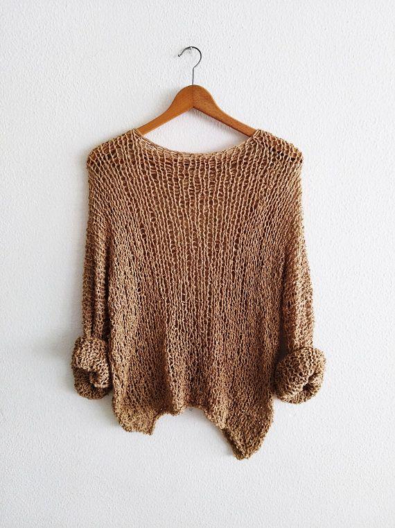Mira este artículo en mi tienda de Etsy: https://www.etsy.com/es/listing/593639460/camel-basic-knit-sweater-for-women