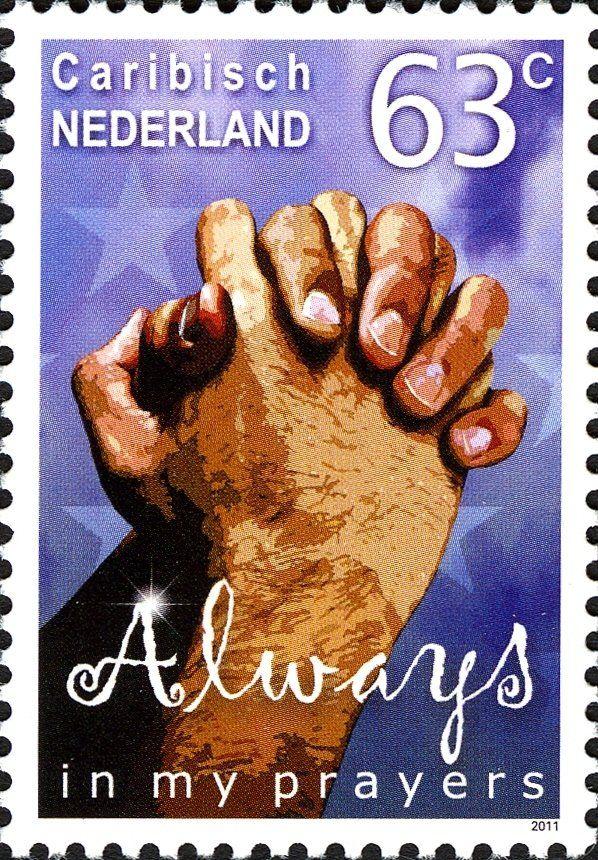 Stamp: Always in my prayers (Caribbean Netherlands) (Wishing Stamps) Mi:BQ 8,Sn:BQ 8,WAD:BQ007.11