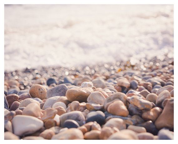 Brighton Print Pebbles Art Pebbles Decor by CassiopiPhotography