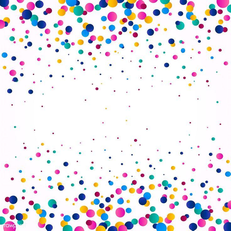 colorful confetti background explosion vector