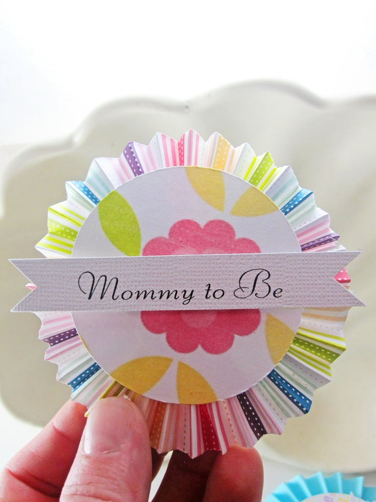 Baby Shower Decoration Gender Neutral  Mommy and Daddy to Be Party Badge Decoration. $19.99, via Etsy.