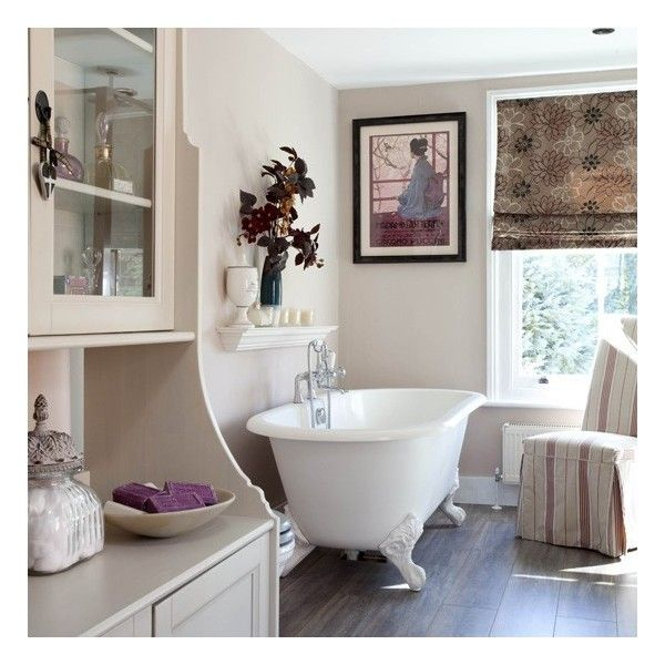 Classic neutral bathroom found on Polyvore
