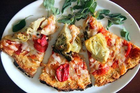 Pizza com Crosta de Couve-Flor - Dieta Dukan   Receitas e Sabores do Mundo