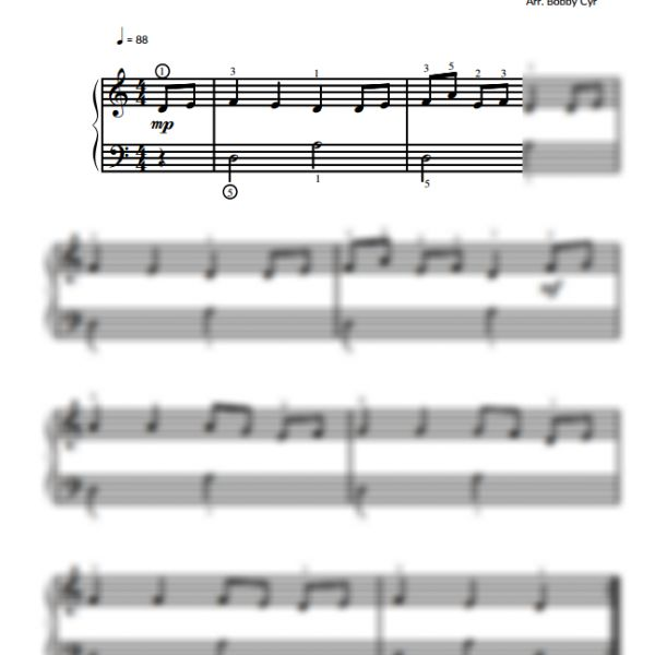 The Streets of Cairo - Easy Piano Sheet Music for Beginners / Piano Notion