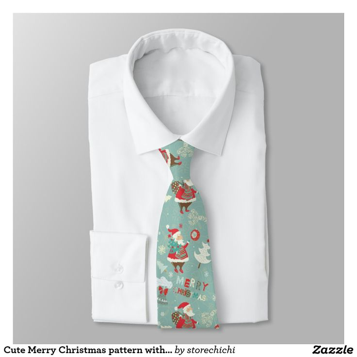 Cute Merry Christmas pattern with Santa Claus