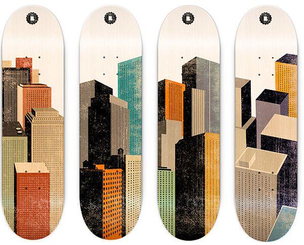 citydecks / borja bonaque: Skateboards, Borja Bonaque, Skateboard Decks, Art, Illustration, Skateboard Graphics Design, Skating Decks, Skateboard Design, Skating Design
