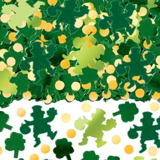 Irsk Skt Patricksdag Leprechaun Trekløver Konfetti