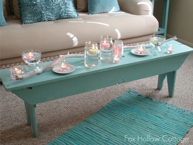 AquaDecor, Ideas, Coffee Tables, Beach House, Benches, Painting Aqua, Living Room, Painting Colors, Beach Chic