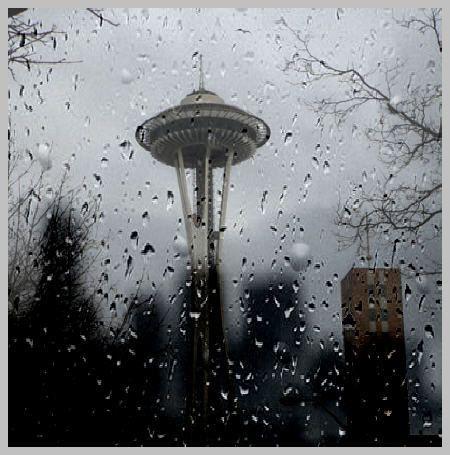 rain love: Spaces, Washington State, Space Needle, Favorite Places, Cities, Seattle Rain, Rainy Seattle, Rainy Days, Spaceneedle