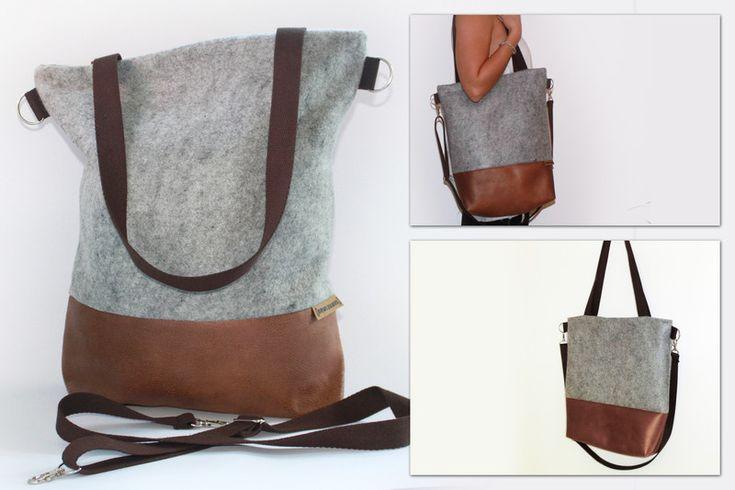 Schultertasche+/+Shopper+-+aus+Filz+&+Wildleder+von+BOWLEANIES+auf+DaWanda.com