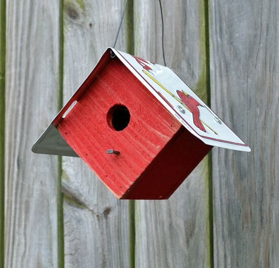 St. Louis Cardinals Birdhouse Rustic Birdhouse by ruraloriginals