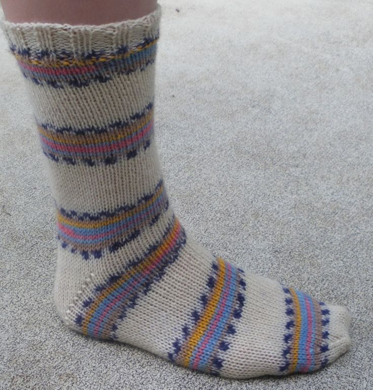 Easy Two Needle Socks - Audrey's Knits | Two needle socks ...