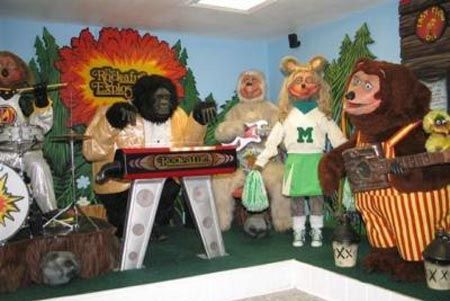 Showbiz Pizza...spent a few birthdays here as a kid.  The characters look creepy now, but back in the 80's they were cool!