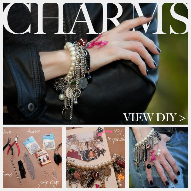 YSL Inspired Charm Bracelet DIY Feature www.trinketsinbloom.com
