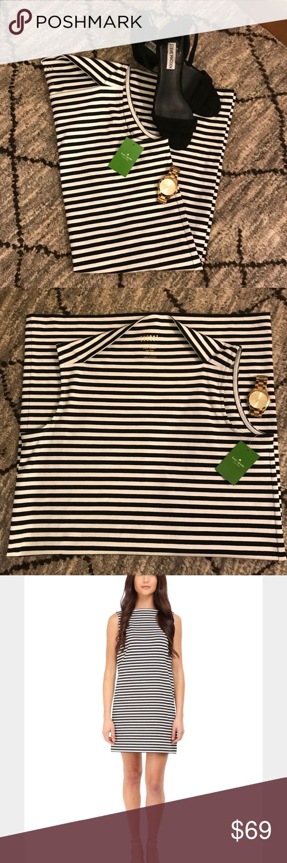 NWT kate spade Stripe Everyday Shift Dress kate spade Stripe Everyday Shift Dress in Broome Street Black Size Small. New with tags! Comfortable, light dress to wear 'everyday' and also could be paired with heels and pearls for a night out! kate spade Dresses