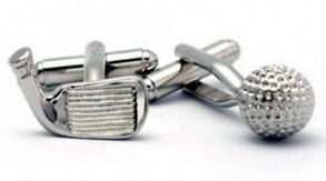 Flying Saucers in Garden Lane have an amazing, quirky range of cuff links for the dads who wear dress shirts to work. This cute golf putter and ball set costs $29.99