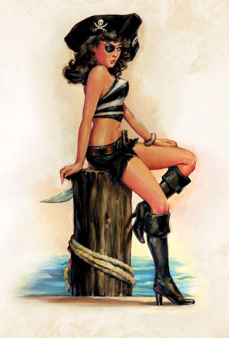 Blackheart Spiced Rum Pirate Girl