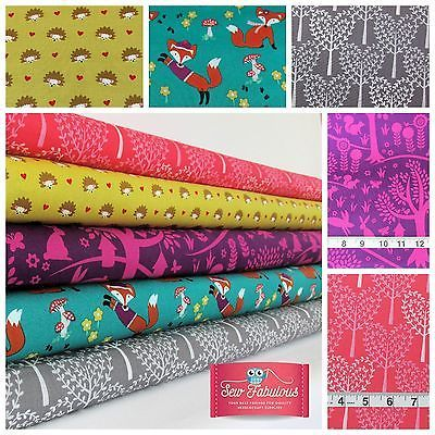 Michael Miller Fabrics of the Cute Fox Woods Collection 100% Cotton Fabric.