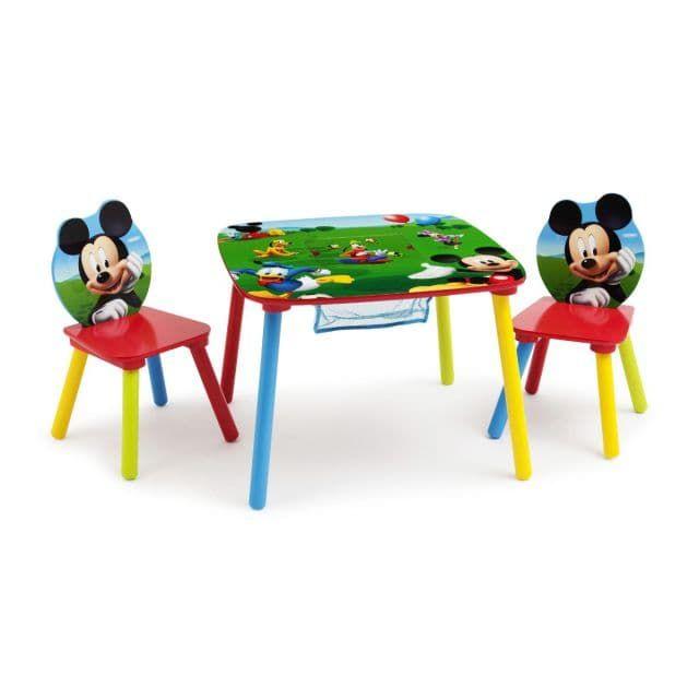 Ensemble Table avec rangement et 2 chaises Mickey Disney - Bébé Gavroche