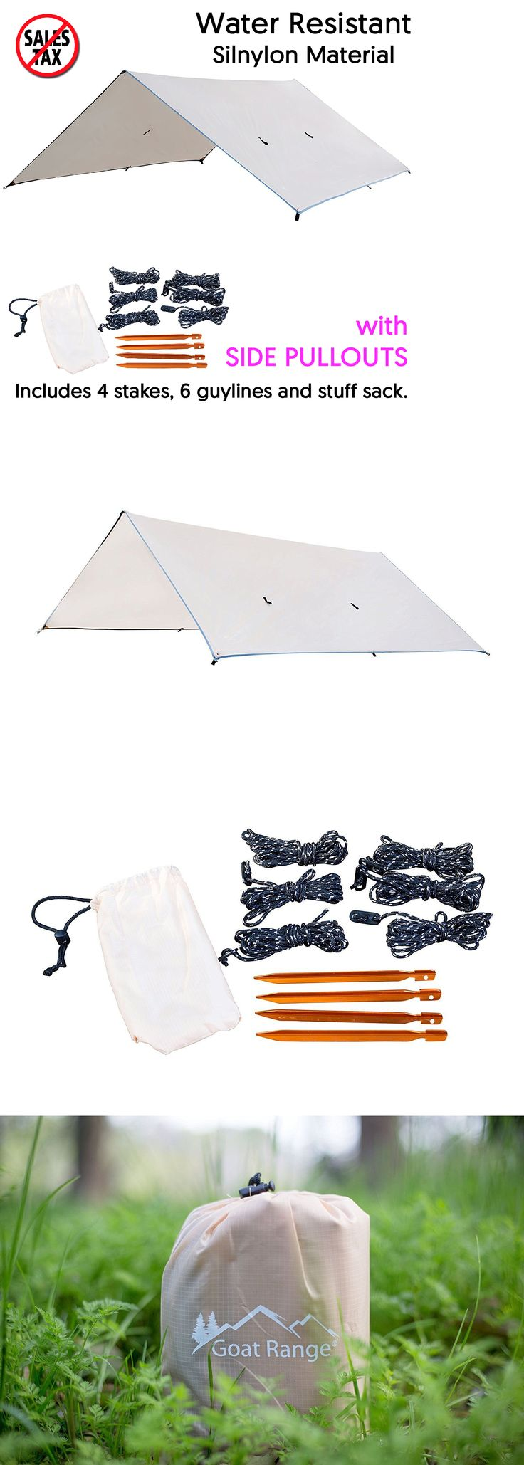 Canopies and Shelters 179011: Water Resistant Lightweight Tarp Tent Camp Outdoor Shelter Camping Canopy Cover -> BUY IT NOW ONLY: $31.08 on eBay!