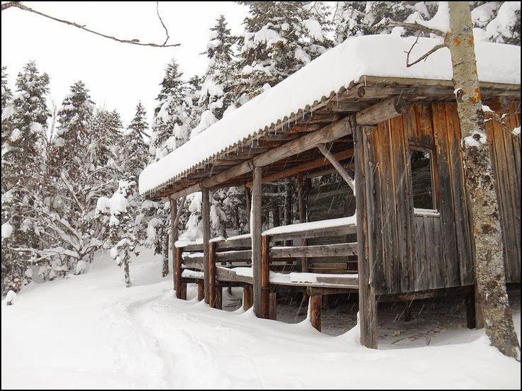 Cabane de la Combe du Crêt Lans en Vercors, France  http://grainedememere.blogspot.fr/2015/02/dans-le-bois-sigu.html