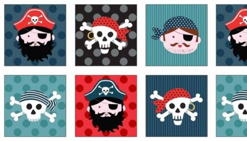 1675-1 Pirate Labels from Makower and Henley Studios